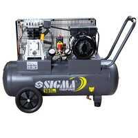 Sigma 7044021 Компрессор двухцилиндровый ременной 2 кВт ресивер 50 л